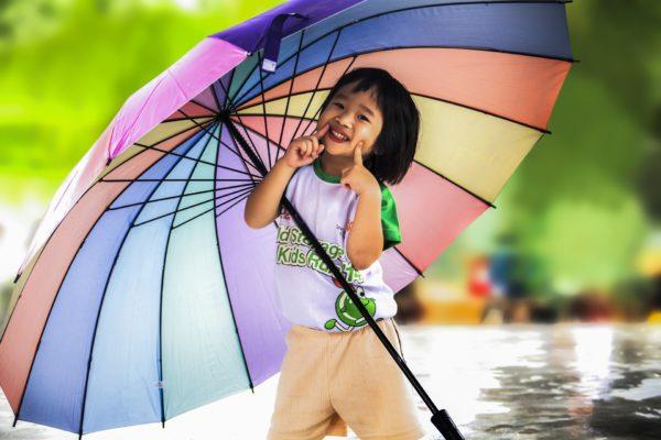 【折りたたみ傘なのに大きい】自動開閉タイプの10本骨で風に強い!180cmの男性もOK